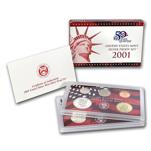 2001 U.S. Silver Proof Set