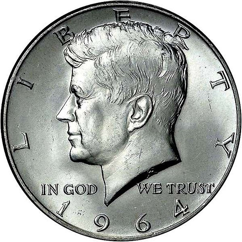 1964 Kennedy Half Dollar in BU