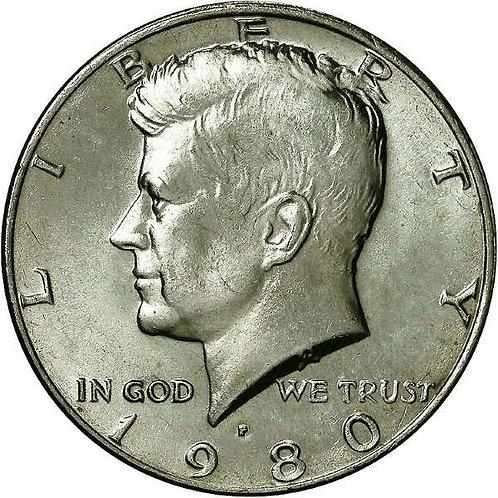 1980-P Kennedy Half Dollar in BU