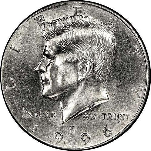 1996-P Kennedy Half Dollar in BU