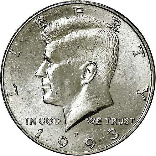 1993-P Kennedy Half Dollar in BU