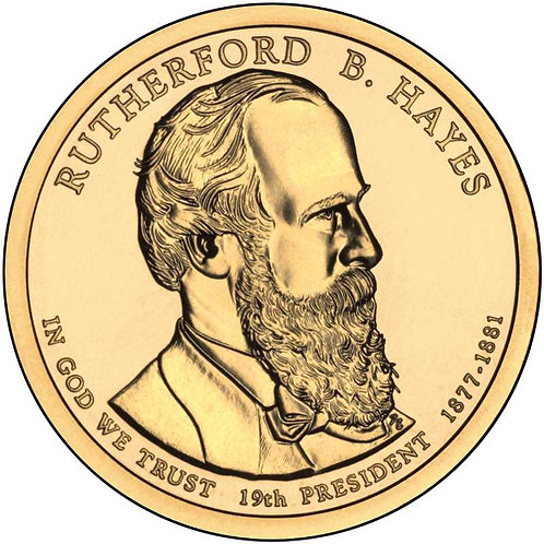 2011-P Rutherford Hayes Presidential Dollar in BU