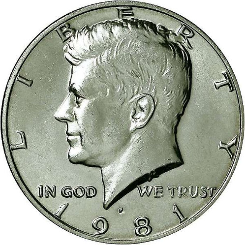 1981-P Kennedy Half Dollar in BU