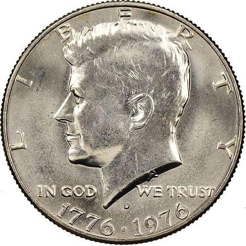 1976-D Kennedy Half Dollar in BU