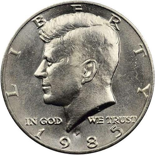 1985-P Kennedy Half Dollar in BU