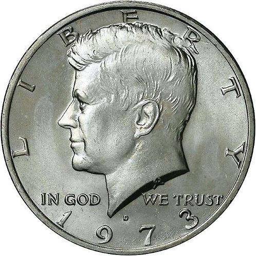 1973-D Kennedy Half Dollar in BU