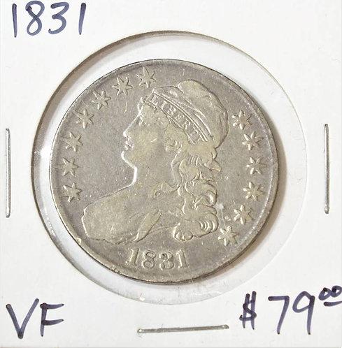1831 Bust Half Dollar in VF