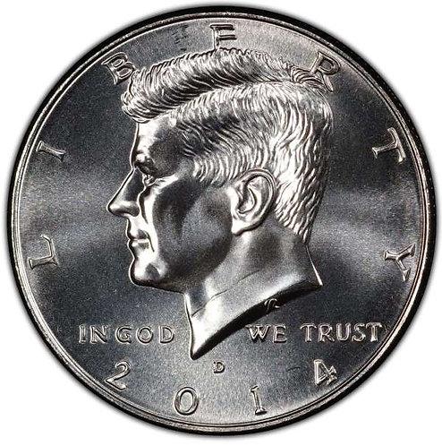2014-D Kennedy Half Dollar in BU