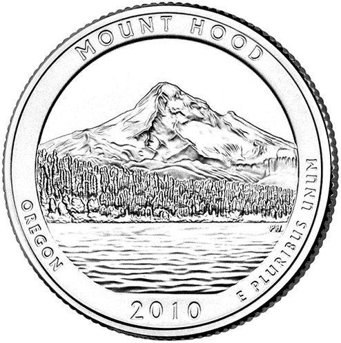 2010-D Mount Hood National Park Quarter in BU