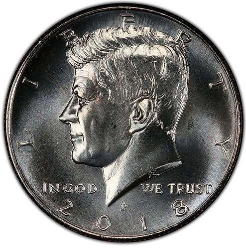 2018-P  Kennedy Half Dollar in BU