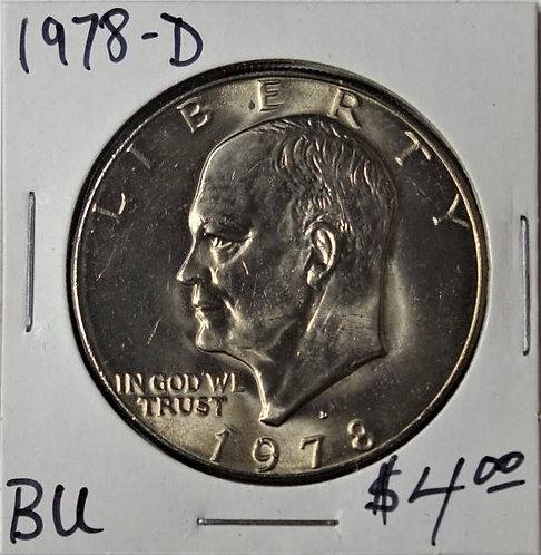 1978-D Eisenhower Dollar in BU