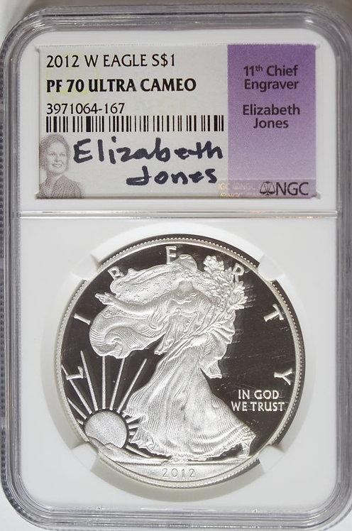 2012-W 1-oz Proof American Silver Eagle NGC PF70UCAM