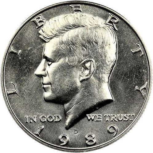 1989-D Kennedy Half Dollar in BU