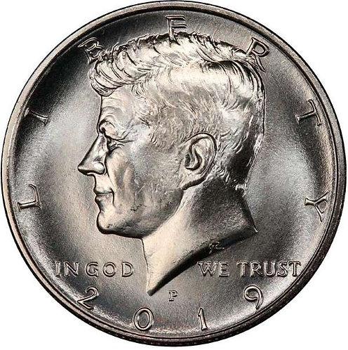 2019-P  Kennedy Half Dollar in BU