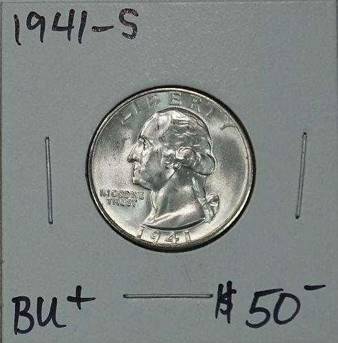 1941-S Washington Quarter in BU+