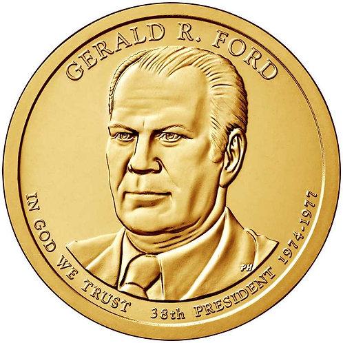 2016-D Gerald Ford Presidential Dollar in BU