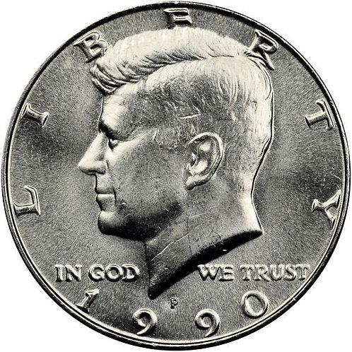 1990-P Kennedy Half Dollar in BU