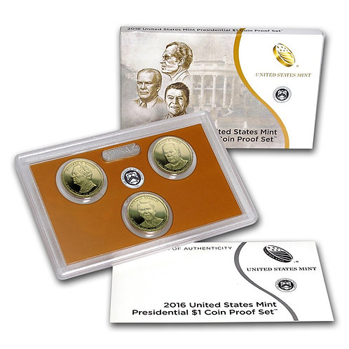 2016 Presidential Dollar Proof Set