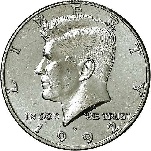 1992-D Kennedy Half Dollar in BU