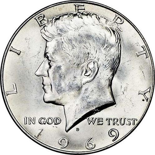 1969-D Kennedy Half Dollar in BU