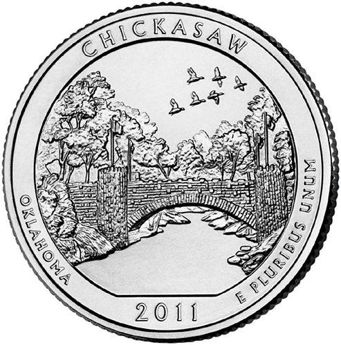 2011-P Chickasaw National Park Quarter in BU