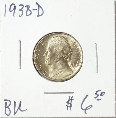 1938-D Jefferson Nickel in BU