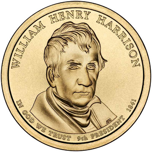2009-D William Harrison Presidential Dollar in BU