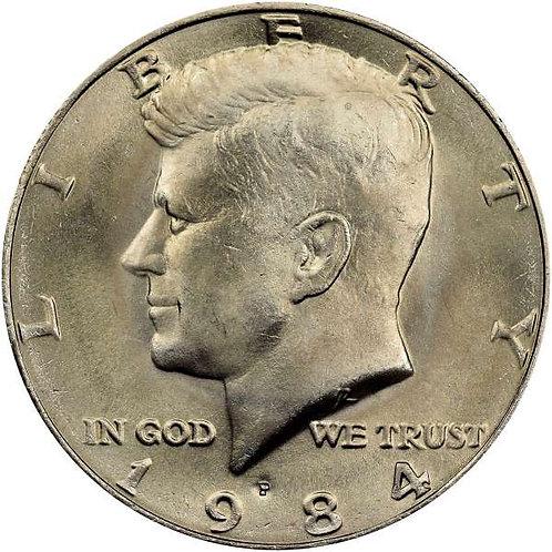 1984-P Kennedy Half Dollar in BU