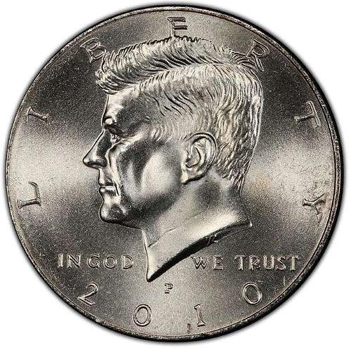 2010-P Kennedy Half Dollar in BU
