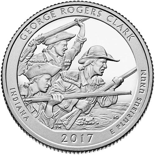 2017-D George Rogers National Park Quarter in BU