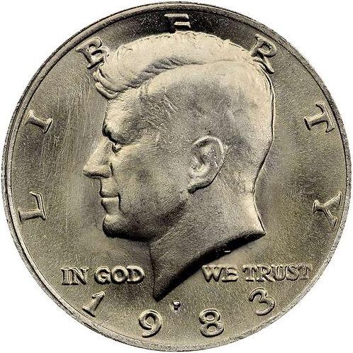 1983-P Kennedy Half Dollar in BU