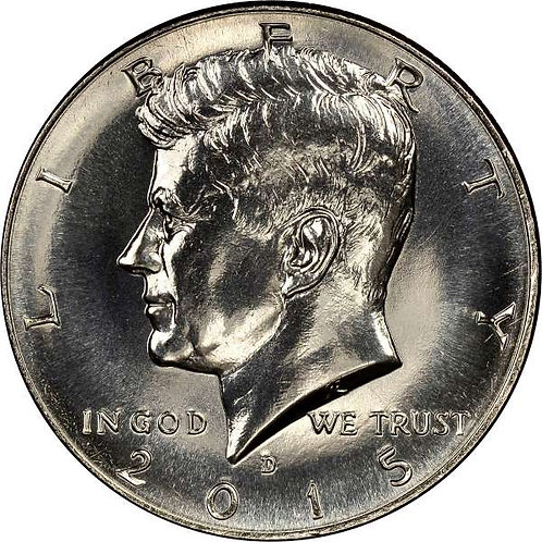 2015-D Kennedy Half Dollar in BU
