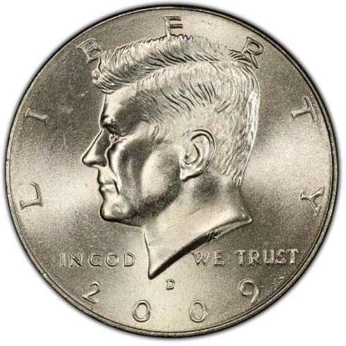 2009-D Kennedy Half Dollar in BU