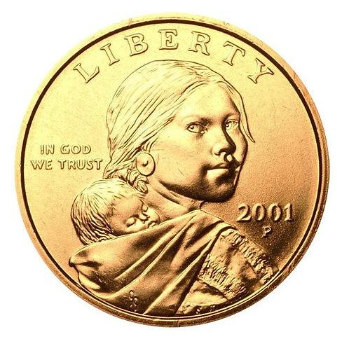 2001-P Sacagawea Dollar in BU