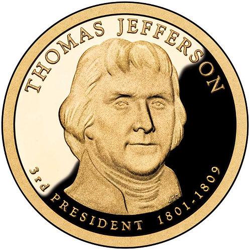 2007-S Thomas Jefferson Presidential Dollar Proof