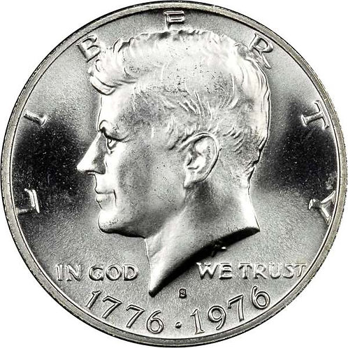 1976-S Silver Clad Kennedy Half Dollar in BU