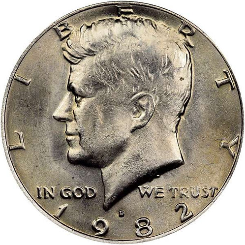 1982-D Kennedy Half Dollar in BU