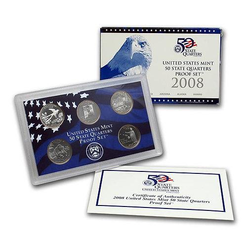 2008 Statehood Quarter Proof Set