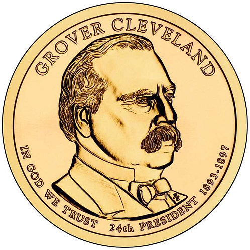 2012-D Grover Cleveland (2nd term) Presidential Dollar in BU