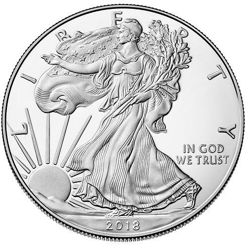 2018 1-oz American Silver Eagle in BU