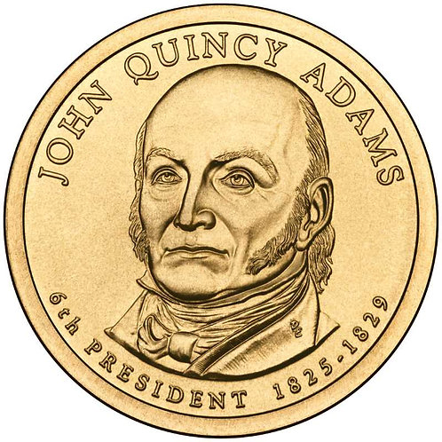 2008-D John Quincy Adams Presidential Dollar in BU