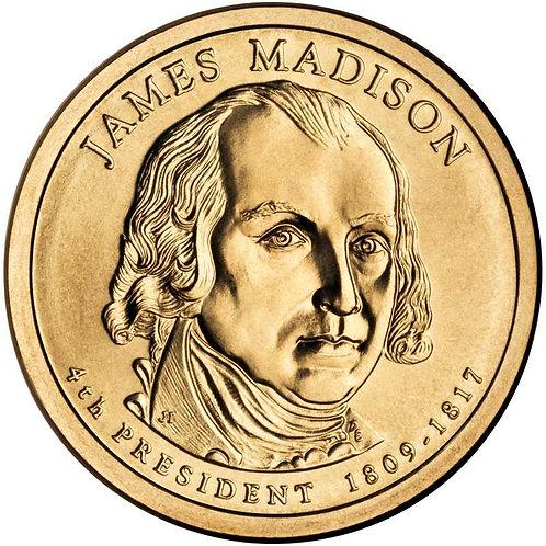 2007-D James Madison Presidential Dollar in BU