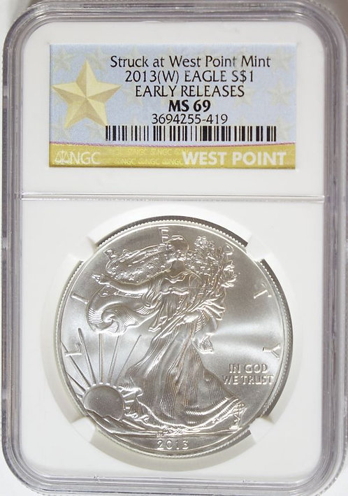 2013(W) 1-oz American Silver Eagle NGC MS69