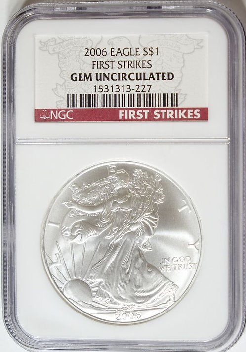 2006 1-oz American Silver Eagle NGC GEM UNCIRCULATED