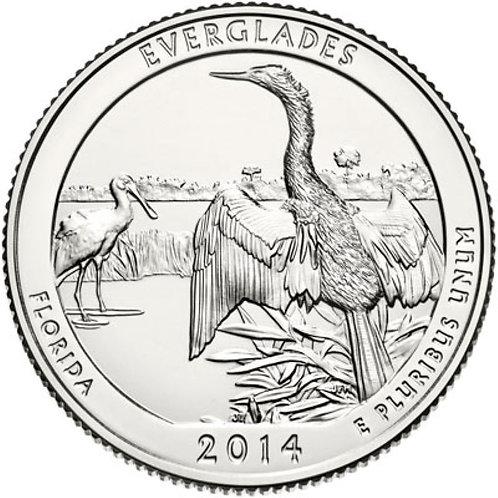 2014-D Everglades National Park Quarter in BU