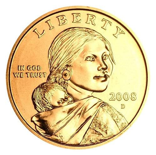 2008-D Sacagawea Dollar in BU