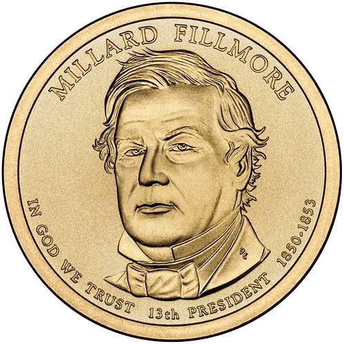 2010-D Millard Fillmore Presidential Dollar in BU