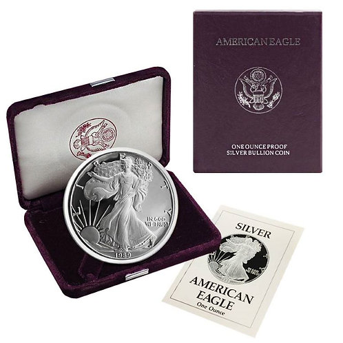 1989-S Proof American Silver Eagle