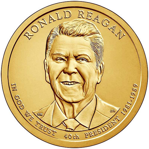 2016-D Ronald Reagan Presidential Dollar in BU