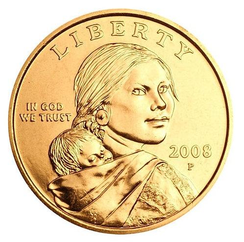 2008-P Sacagawea Dollar in BU